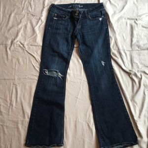 """American Eagle """"Artist"""" distressed bootcut jeans"""